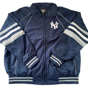 MLB NY Yankees Blue/Gray Baseball Jacket